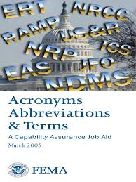 Disa Dccc Help Desk by Fema Acronyms Abbreviations And Terms Faat List 2005 Pdf