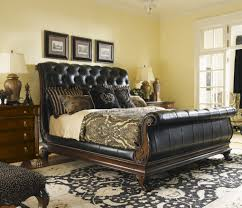 North Shore King Sleigh Bed by Bedroom Tufted Leather Sleigh Bed Slate Picture Frames Desk