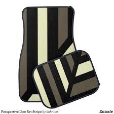 Perspective Line Art Stripe Car Floor Mat | Car Mats | Pinterest | Cars