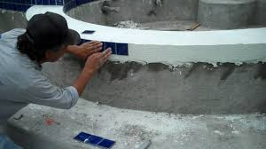 swimming pool coping and tile work