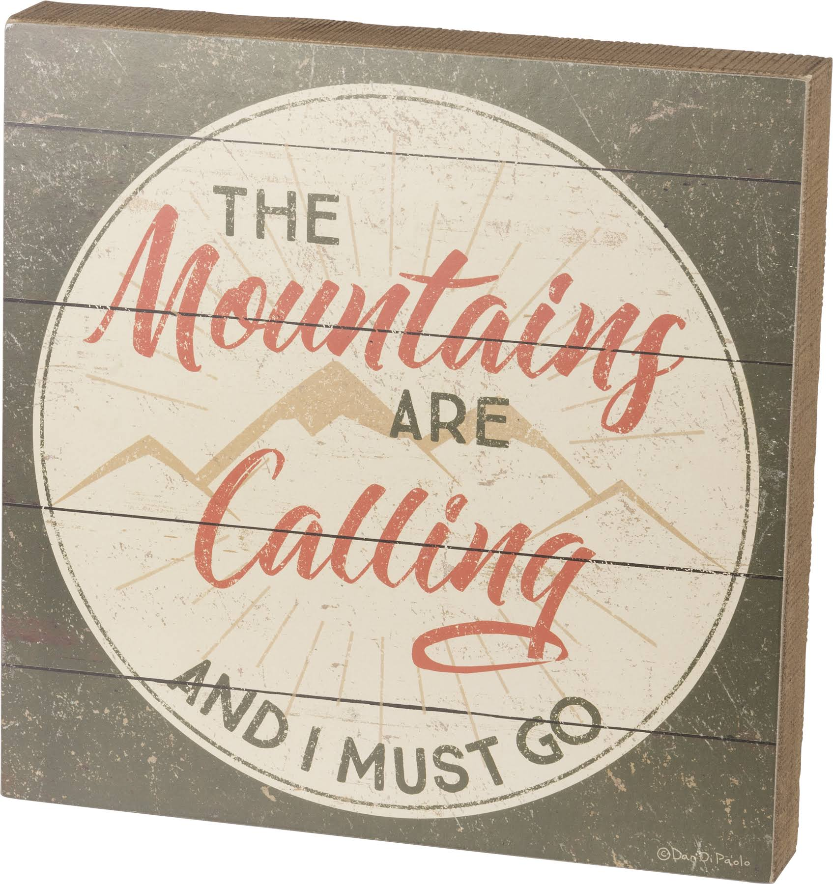 Primitives by Kathy The Mountains Box Sign