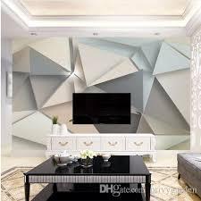 großhandel foto wand papier 3d modern tv hintergrund wohnzimmer abstrakt kunst wandbild geometrische wandbild tapete privygarden 16 53 auf