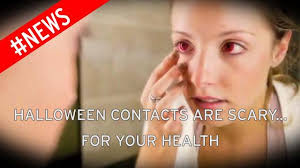 Prescription Colored Contacts Halloween Uk woman feared halloween contact lenses would leave her blind as