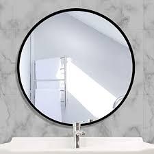 aufhellen rund spiegel mit schwarz metallrahmen hd