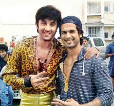 Ranbir Kapoor with Shahid Kapoor the sets of