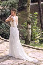 ivory bohemian wedding dress beautiful lace wedding long gown boho