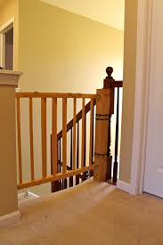 How To Install A Stair Safety Gate WITHOUT Ruining Your Banister ... Infant Safety Gates For Stairs With Rod Iron Railings Child Safe Plexiglass Banister Shield Baby Homes Kidproofing The Banister From Incomplete Guide To Living Gate For With Diy Best Products Proofing Montgomery Gallery In Houston Tx Precious And Wall Proof Ideas Collection Of Solutions Cheap Way A Stairway Plexi Glass Long Island Ny Youtube Safety Stair Railings Fabric Weaved Through Spindles Children Och Balustrades Weland Ab