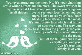 Your eyes attract me the most Love Letters for Her