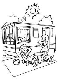 6 Pics Of RV Camper Coloring Pages