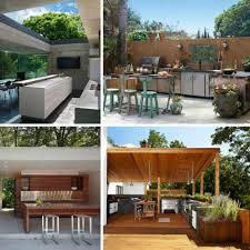 cuisine exterieure moderne cuisine extérieure moderne chaises à manger noires les
