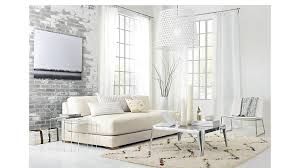 piazza white armless sofa cb2