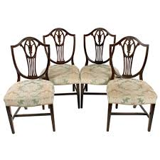 Set Of Four Hepplewhite Style Chairs 4 Hepplewhite Style Mahogany Yellow Floral Upholstered Ding Chairs Style Ding Table And Chairs Pair George Iii Mahogany Armchairs Antique Set Of 8 English Georgian 12 19th Century Elegant Mellow Edwardian Design Antiques World 79 Off Wood Hogan Side Chair Eight Late 18th Of