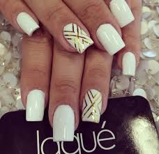 Gold And White Nail Designs