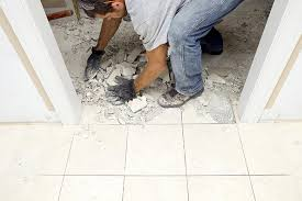 how to demolish a marble flooring tile