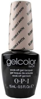 gelcolor by opi soak off gel laquer nail polish bubble bath gc