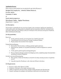 How To Write A Resume For Warehouse Job