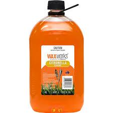 waxworks 4l citronella oil bunnings warehouse