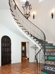 wonderful mediterranean style homes with flor tiles stairs ideas