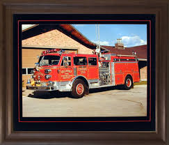 100 Fire Truck Wall Art Ideal With 1984 American La France Red
