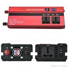 100 Truck Power Inverter High Quality 12V 24V To 110V 220V 2000W Car LED