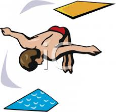 Guy Jumping Off A Diving Board