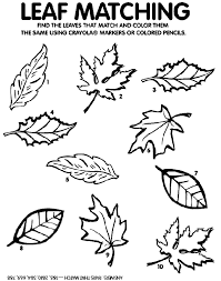 Leaf Matching Game Coloring Page