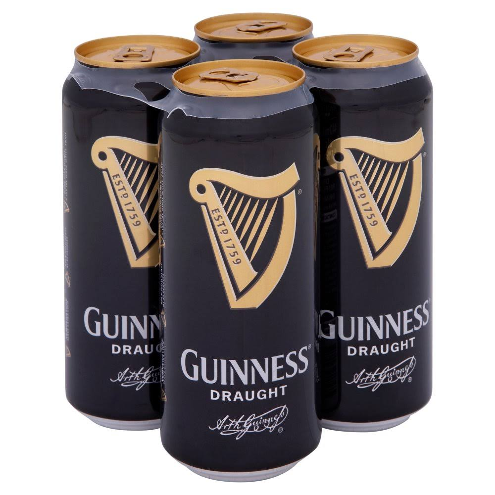 Guinness Draught Stout Beer - 4 x 440ml