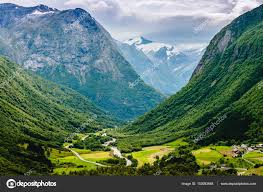 100 Stunning Views Views Of The Valley Norway Stock Photo