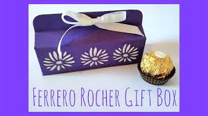 Ferrero Rocher Christmas Tree Box by Ferrero Rocher Gift Box Tutorial Youtube