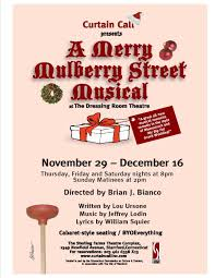 Curtain Call Stamford Auditions by A Merry Mulberry Street Musical Curtain Call Inc
