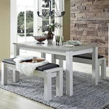 landhaus esszimmer tisch set in pinie weiß mit abs taupe leer 55 ausz