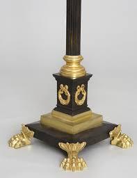 French Antique Bronze Floor Lamp Danielle Chuatico