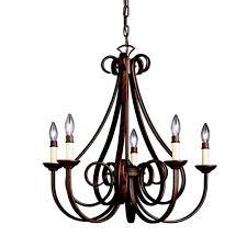 features 5 light incandescent chandelier bulb type
