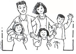 Family Members Colour Great Coloring Pages Of A