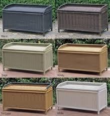 Plastic Garden Storage Bench Seat by Patio Furniture Cushion Storage Boxes Foter