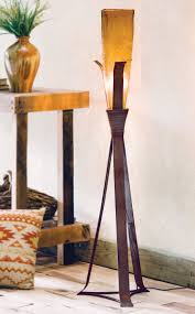 Floor Lamp Glass Shade by Sonora Floor Lamp With Amber Glass Shade