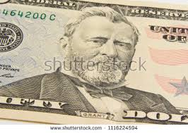 Front Of The Fifty Dollar Bill With A Portrait President Ulysses Simpson Grant