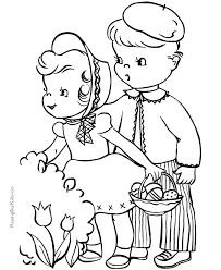 Easter Coloring Book Pages For Kid