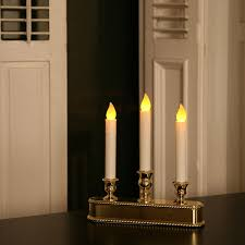 Halloween Flameless Taper Candles by Lights Com Flameless Candles Taper Candles Gold