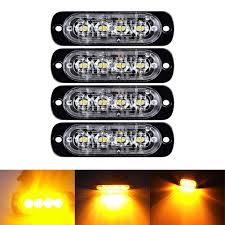 4X Amber 4 LED Strobe Light Bar Car Truck Emergency Beacon Warning ... Damega Flex 4 Slim Led Grille Light 10 Pack Mounted Warning And 12 Grille Light Emergency Lighting Safety Northern Mobile Electric 4x Amber Strobe Bar Car Truck Beacon Visual Signals Signaling Platforms Beacons Primelux 30inch 72x3w Automotive Tir Lights 2 X 9 Automotive Vehicle Warning Emergency Lighting Car Round Led Whosale Trailer Home Page Response Vehicle Lightbars Recovery Daytime Flash Light Police Autos Running 24 For Trucks Jeep Suv Cars 12v Universal