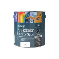 Zinsser Allcoat Exterior Satin Solvent Based Standard Colour