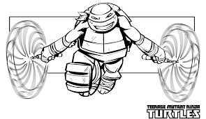 Beautiful Ninja Turtles Coloring Page 92 For Kids With