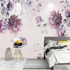 blume tapete schwarz und lila tapete foto wandmalereien