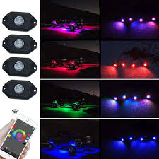 4 Pod RGB CREE LED Rock Light Neon LED Lights Kit For Jeep Off Road ... Oracle 1416 Chevrolet Silverado Wpro Led Halo Rings Headlights Bulbs Costway 12v Kids Ride On Truck Car Suv Mp3 Rc Remote Led Lights For Bed 2018 Lizzys Faves Aci Offroad Best Value Off Road Light Jeep Lite 19992018 F150 Diode Dynamics Fog Fgled34h10 Custom Of Awesome Trucks All About Maxxima Unique Interior Home Idea Prove To Be Game Changer Vdot Snow Wset Lighting Cap World Underbody Green 4piece Kit Strips Under