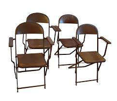 1920's Vintage Metal Folding Chairs - Set Of 4 Vintage Folding Chair Folding Chairs Yellow Metal C1960 Silver Vintage Wood Chair Pair Louis Rastter Sons Chairs Antique By Venesta In Ig6 Redbridge Second Hand Mid Century A Pair Sold Of 1950s Cosco Reupholstered 2 Fifties Foldable Sarah Coleman On Instagram Mini Lv Are All