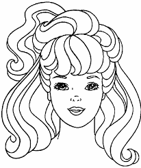 Barbie Hair Coloring Pages