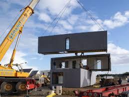 100 Crossbox Gallery A Cantilevered Modular House CG