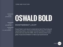 Font Pair Oswald Bold & Montserrat Light