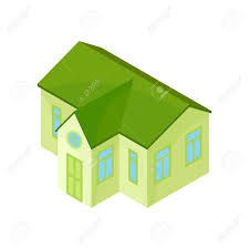100 Modern One Story House Green Model Of A Modern Onestory House Vector Illustration