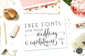 Free Fonts For Wedding Invitations 5762 Together With Your Projects And